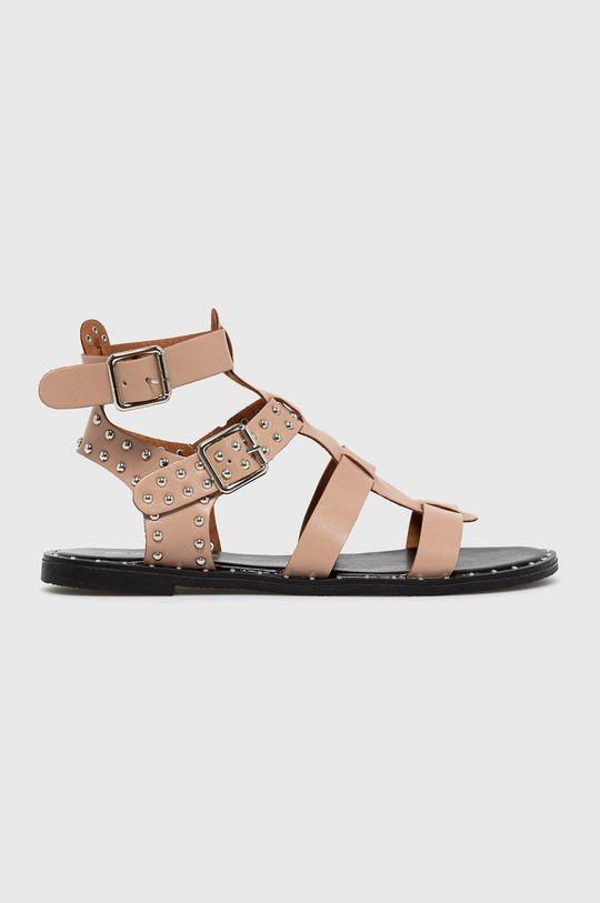różowy Answear Lab - Sandały Lily Shoes Damski