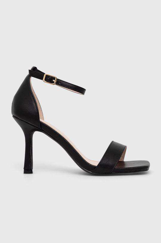 czarny Answear Lab - Sandały Diamentique Damski