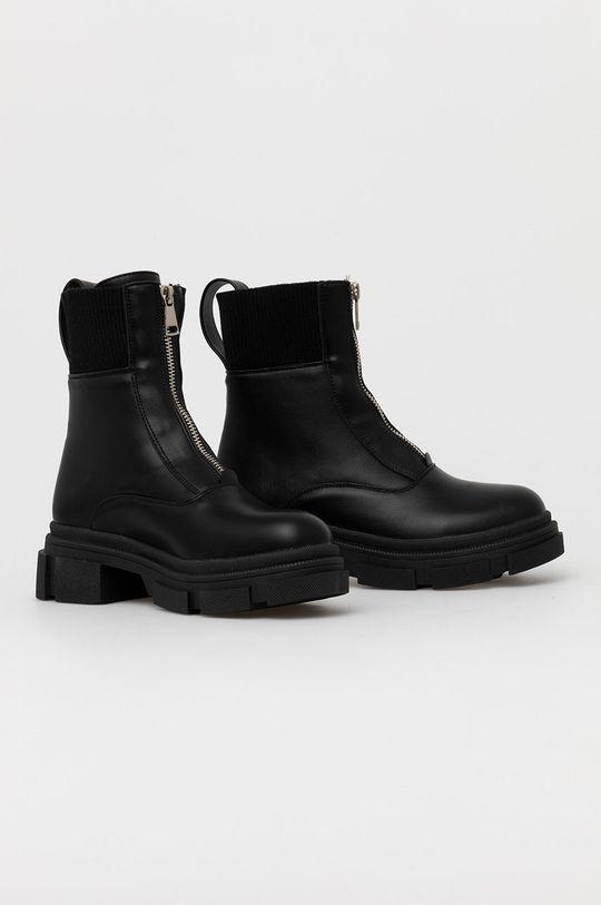 Answear Lab - Členkové topánky čierna