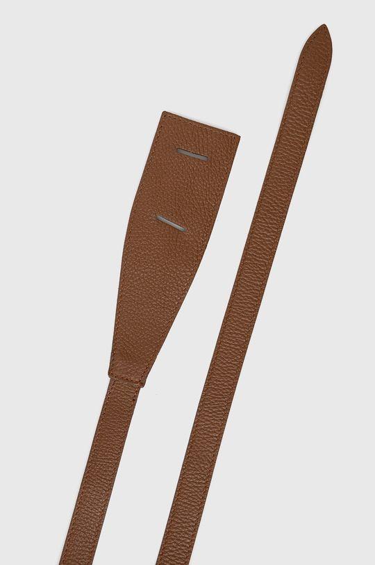 Answear Lab - Pasek skórzany brązowy