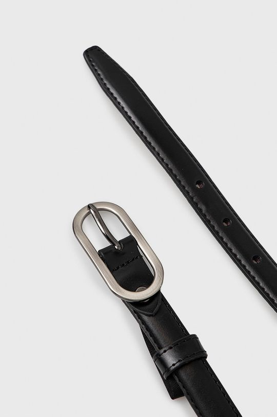 Answear Lab - Kožený opasok čierna