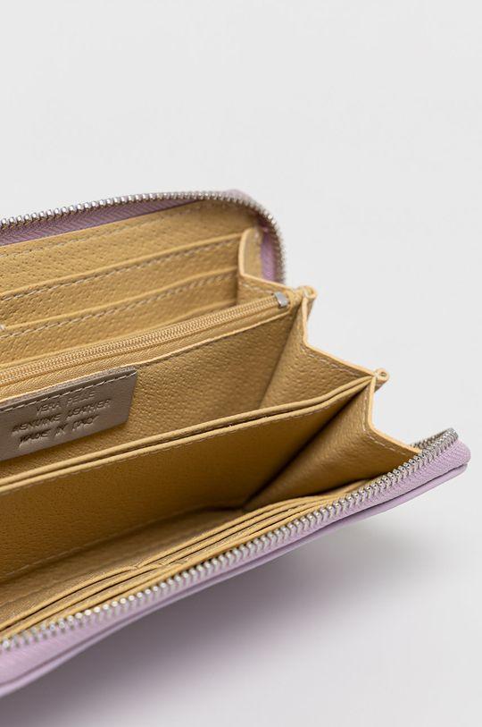 Answear Lab - Kožená peňaženka levanduľová