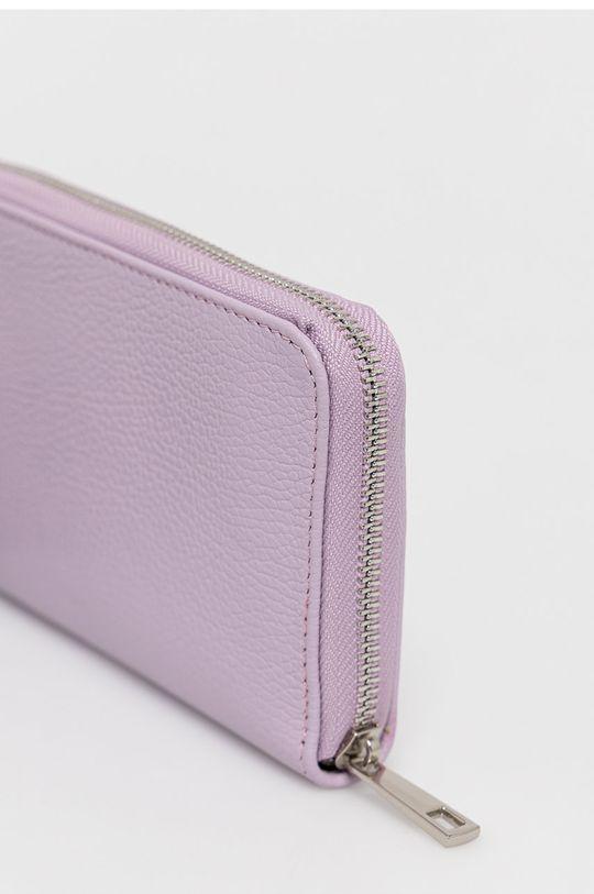 levanduľová Answear Lab - Kožená peňaženka