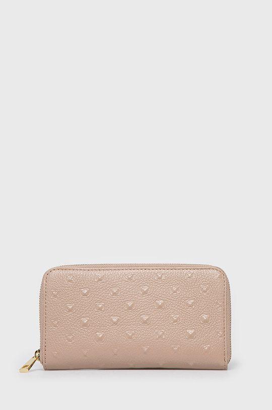 ružová Answear Lab - Kožená peňaženka Dámsky