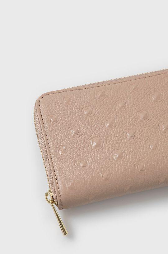 Answear Lab - Kožená peňaženka ružová
