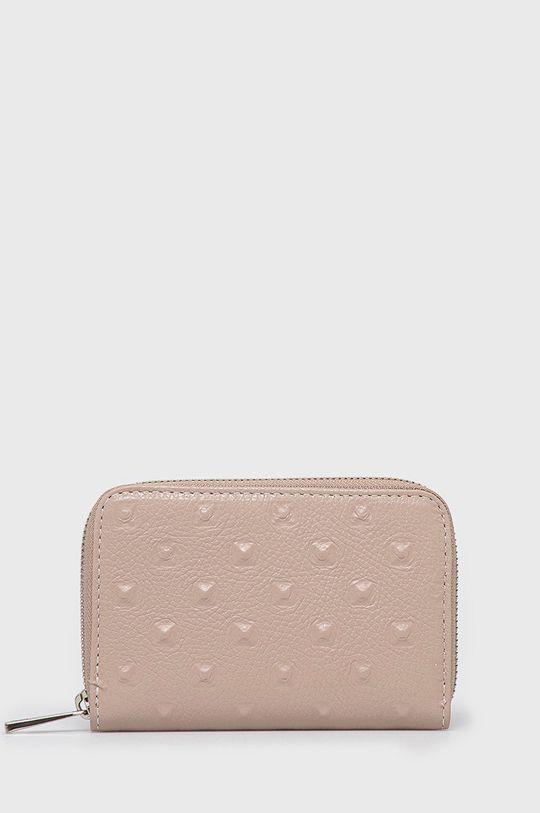 růžová Answear Lab - Kožená peněženka Dámský