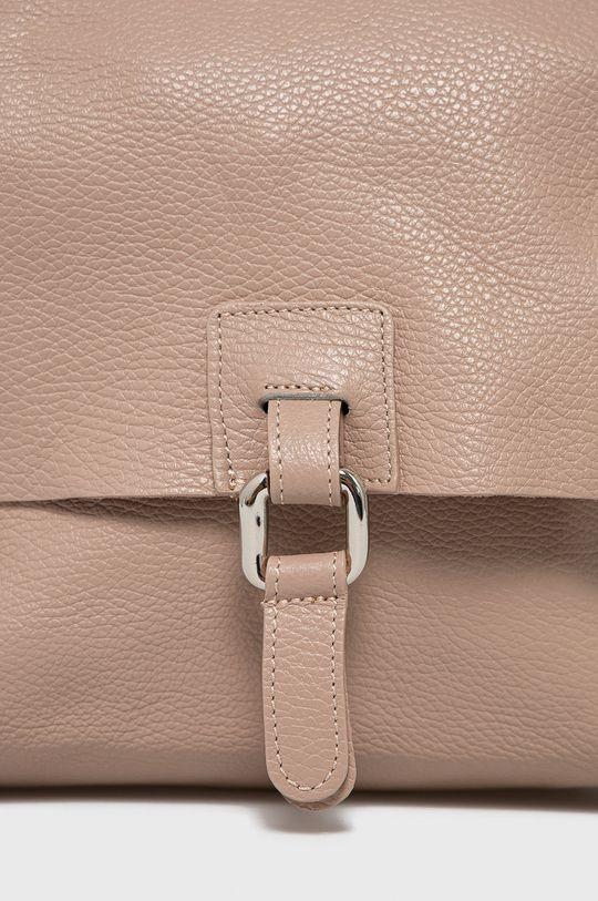 Answear Lab - Kožený ruksak ružová