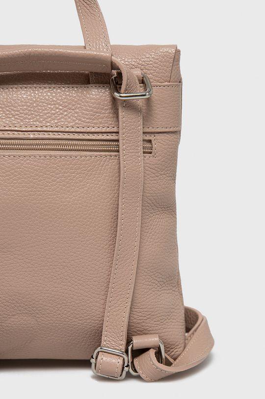 ružová Answear Lab - Kožený ruksak