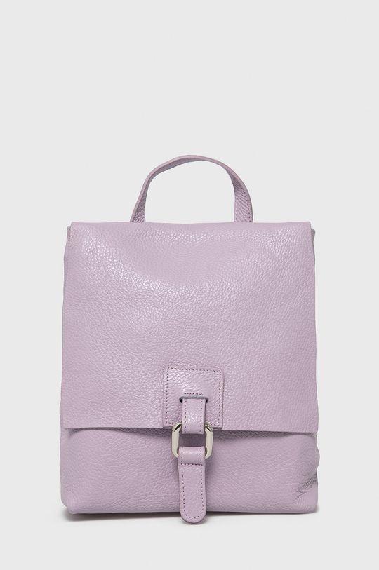 levanduľová Answear Lab - Kožený ruksak Dámsky