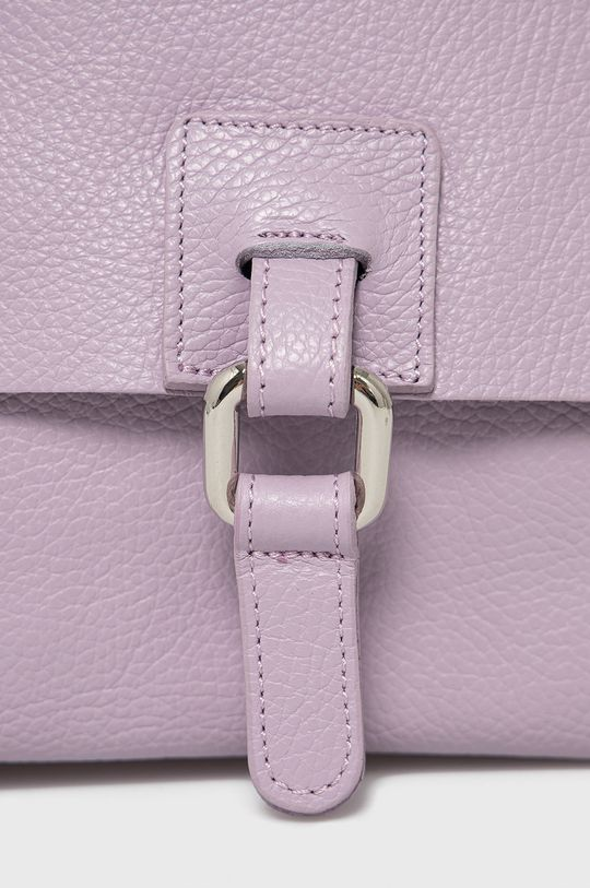 Answear Lab - Kožený ruksak levanduľová
