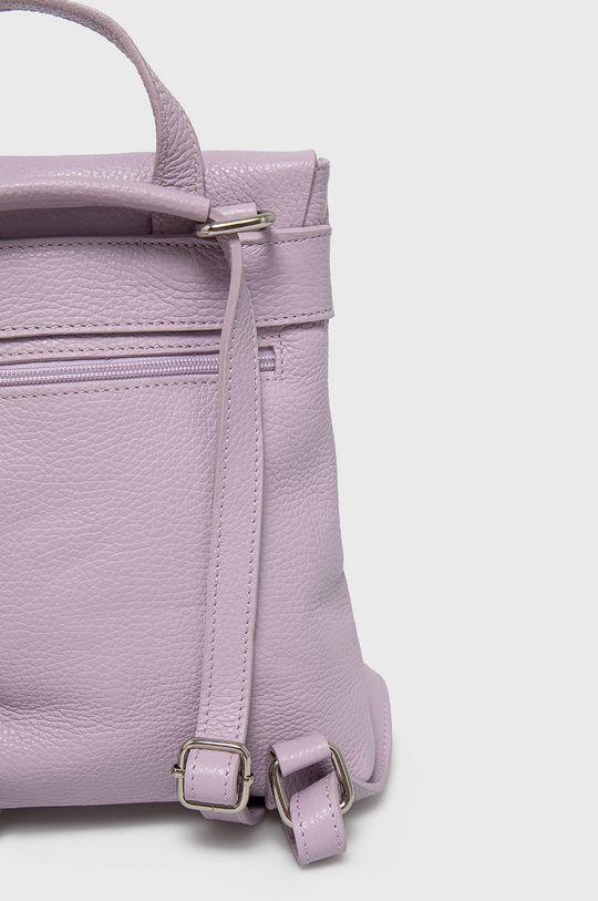 levanduľová Answear Lab - Kožený ruksak