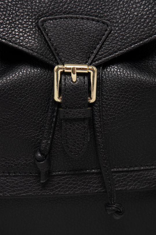 Answear Lab - Kožený ruksak čierna