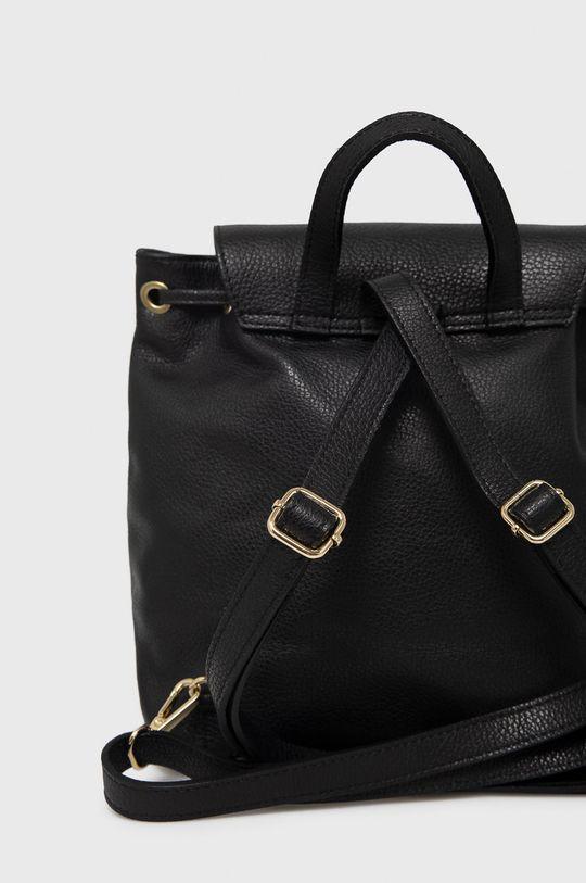 čierna Answear Lab - Kožený ruksak