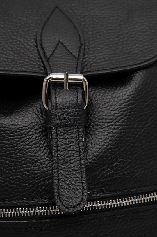 czarny Answear Lab - Plecak skórzany