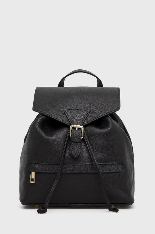 černá Answear Lab - Kožený batoh Dámský