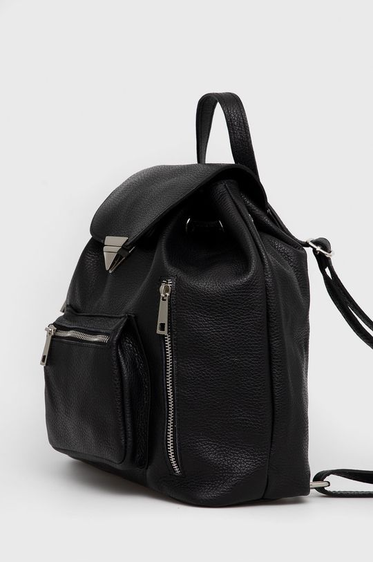 Answear Lab - Kožený batoh černá