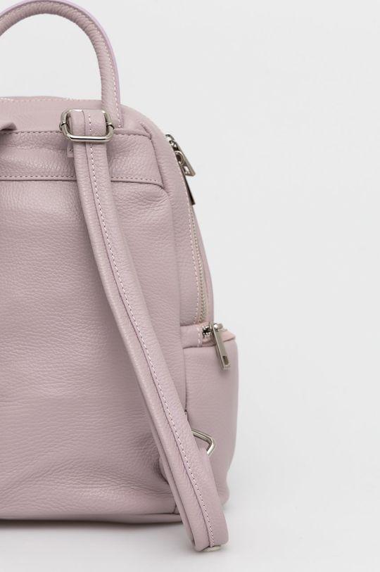 różowy Answear Lab - Plecak skórzany