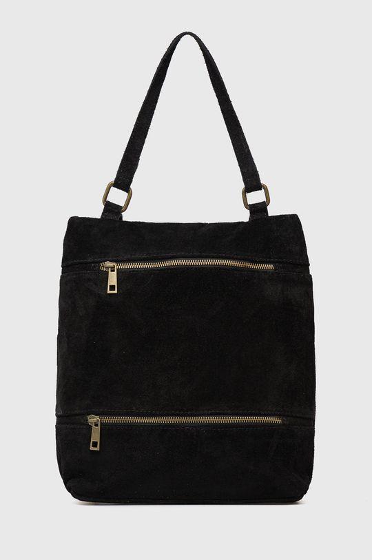 negru Answear Lab - Rucsac din piele intoarsa De femei