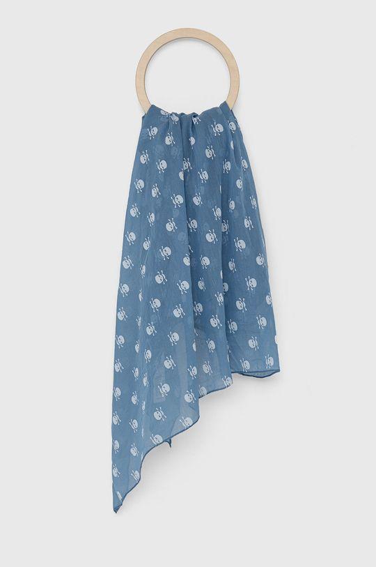 modrá Answear Lab - Šála z hedvábné směsi Silk Blend Dámský