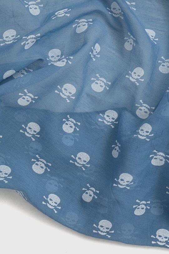Answear Lab - Šála z hedvábné směsi Silk Blend modrá