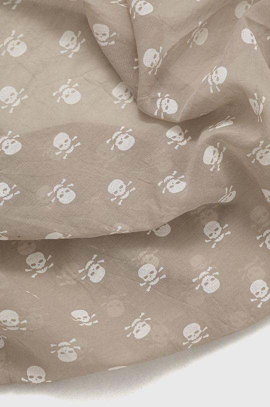 Answear Lab - Szal z domieszką jedwabiu Silk Blend kawowy