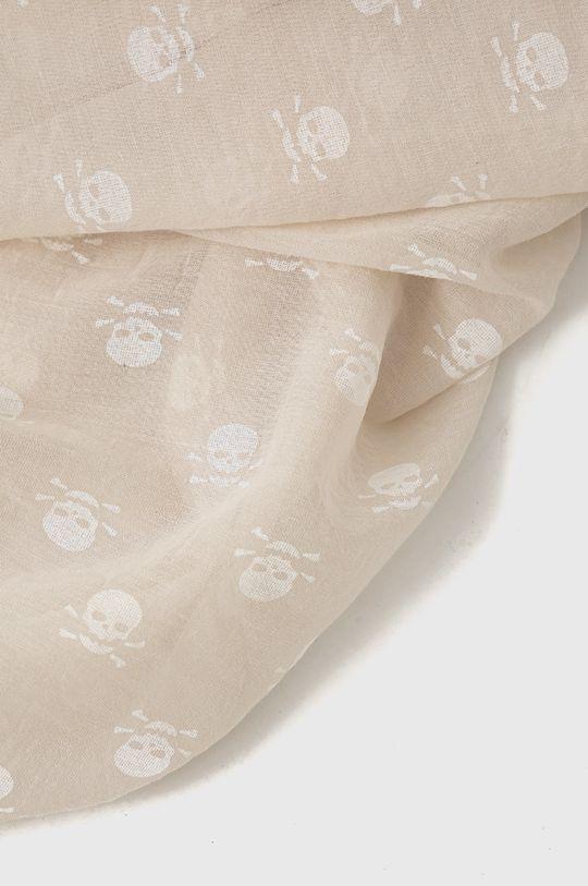 Answear Lab - Szal z domieszką jedwabiu Silk Blend beżowy
