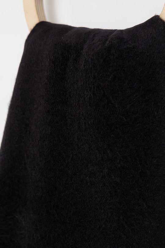 Answear Lab - Szalik z domieszką wełny czarny