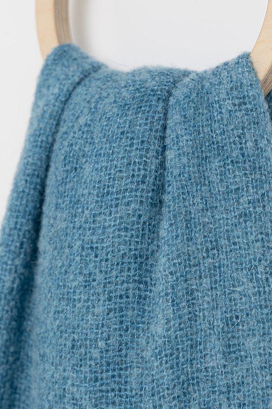 Answear Lab - Szalik z domieszką wełny niebieski