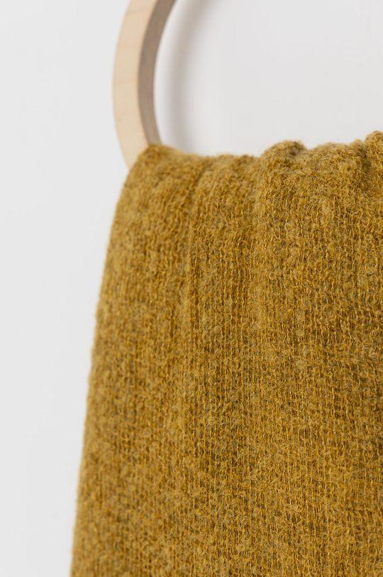 Answear Lab - Szal z domieszką wełny żółty