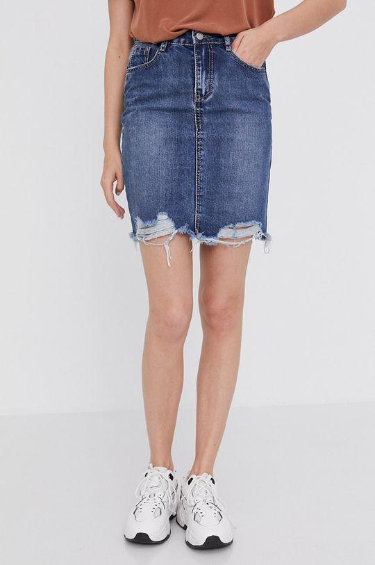 granatowy Answear Lab - Spódnica jeansowa Damski