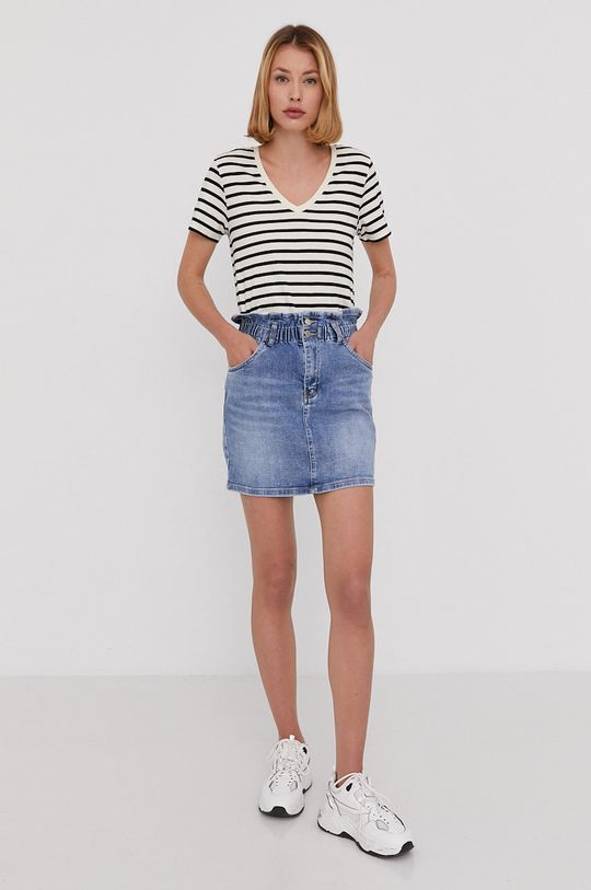 Answear Lab - Spódnica jeansowa niebieski