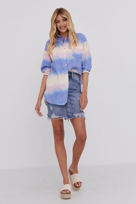 Answear Lab - Rifľová sukňa modrá