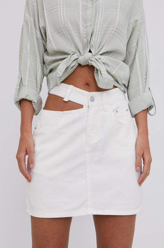 biela Answear Lab - Rifľová sukňa Dámsky