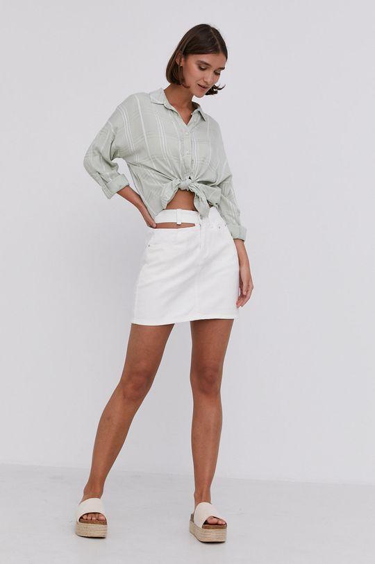 Answear Lab - Rifľová sukňa biela