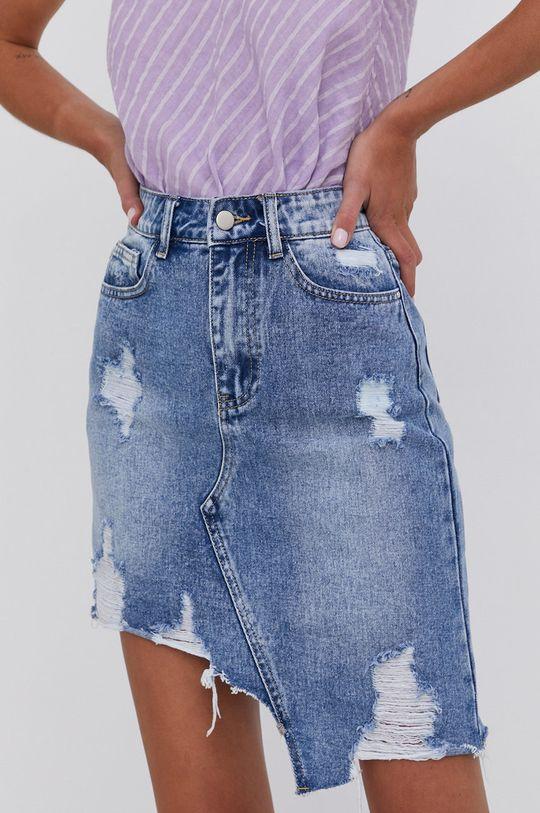 niebieski Answear Lab - Spódnica jeansowa bawełniana Damski