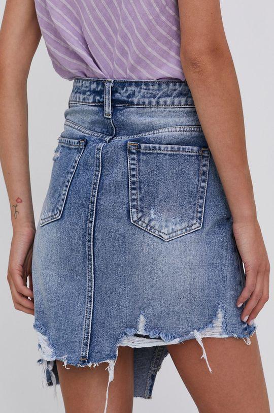 Answear Lab - Spódnica jeansowa bawełniana  100 % Bawełna