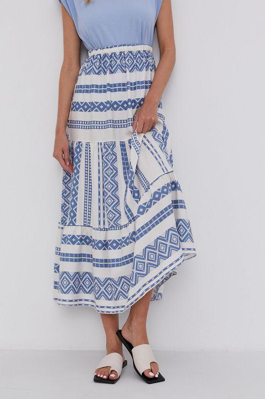 niebieski Answear Lab - Spódnica Lyocel Sustainable Damski