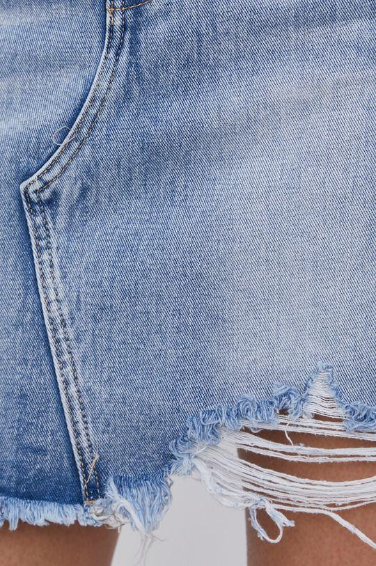 modrá Answear Lab - Džínová sukně