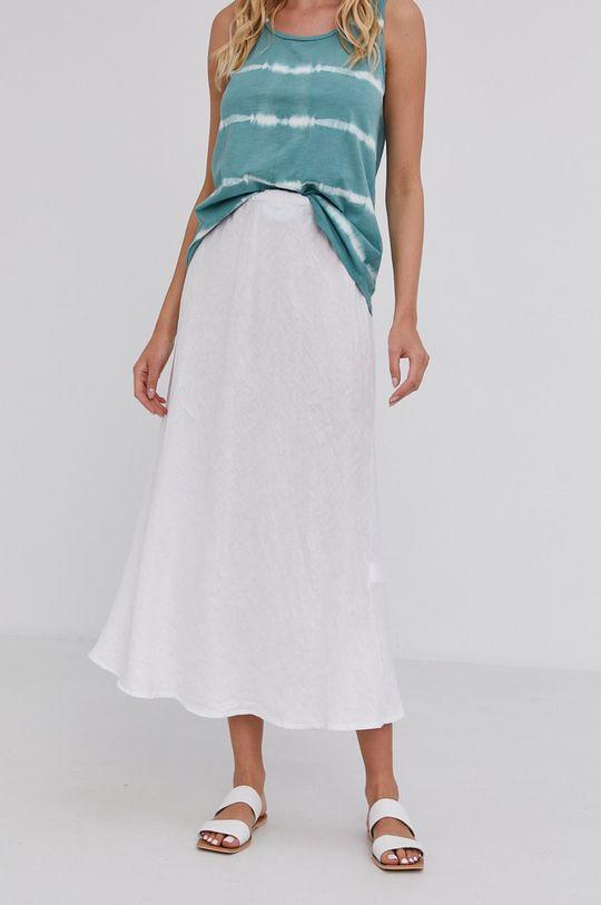 biały Answear Lab - Spódnica lniana Pure Linen Damski