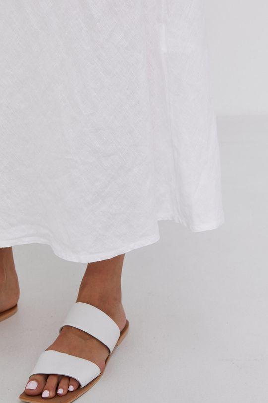 biały Answear Lab - Spódnica lniana Pure Linen
