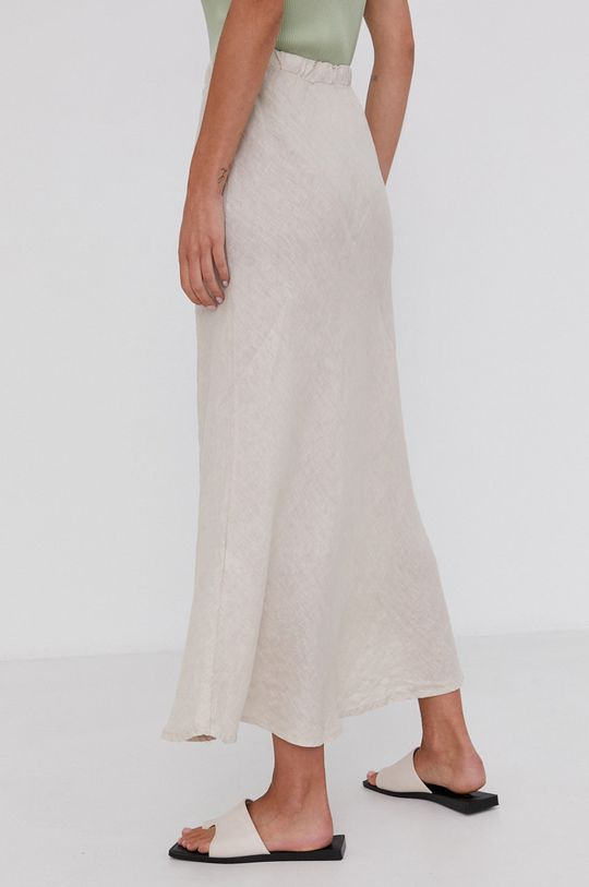 Answear Lab - Ľanová sukňa Pure Linen  100% Ľan