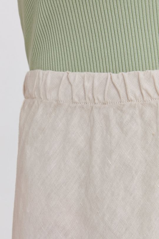Answear Lab - Ľanová sukňa Pure Linen Dámsky