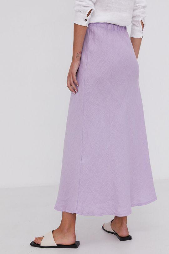 Answear Lab - Lněná sukně Pure Linen  100% Len