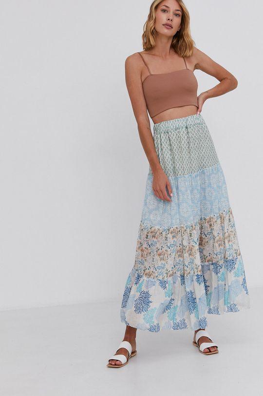 niebieski Answear Lab - Spódnica bawełniana Damski