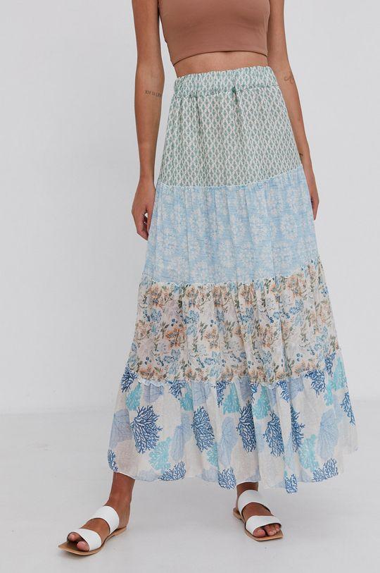 Answear Lab - Spódnica bawełniana niebieski