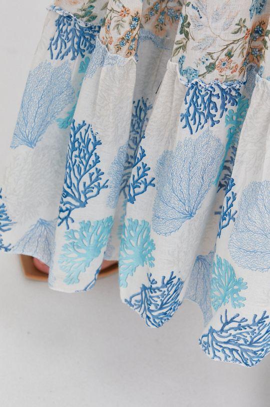 niebieski Answear Lab - Spódnica bawełniana