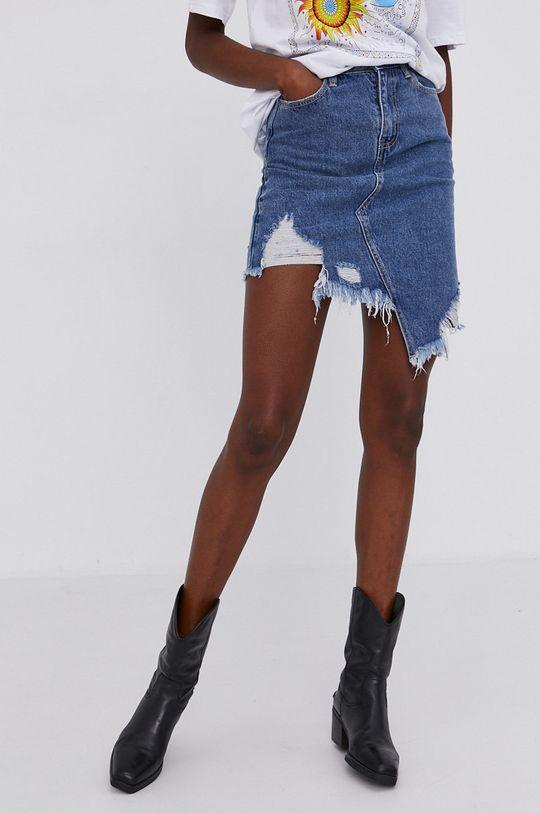 niebieski Answear Lab - Spódnica jeansowa Damski