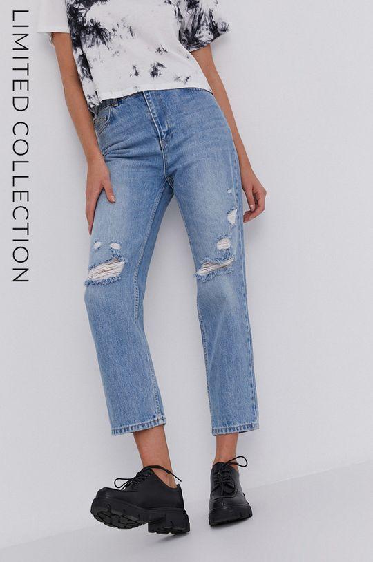 niebieski Jeansy answear.LAB X kolekcja limitowana GIRL POWER Damski