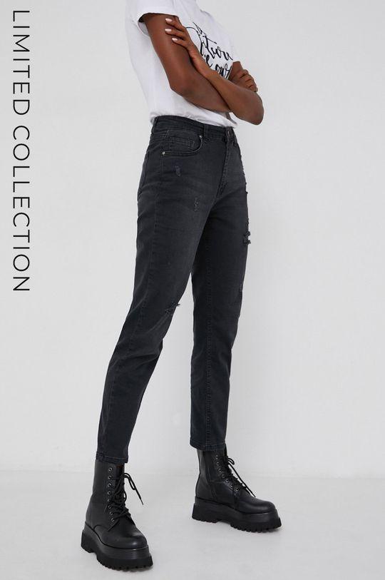 czarny Jeansy answear.LAB X kolekcja limitowana GIRL POWER Damski
