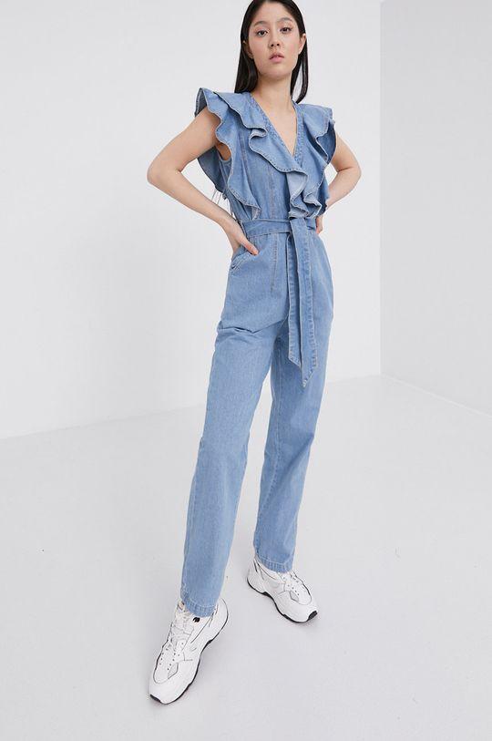 niebieski Answear Lab - Kombinezon jeansowy Damski